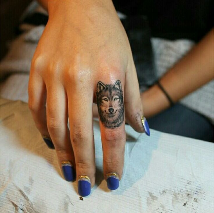 Small Animal Tattoo On Finger For Girls