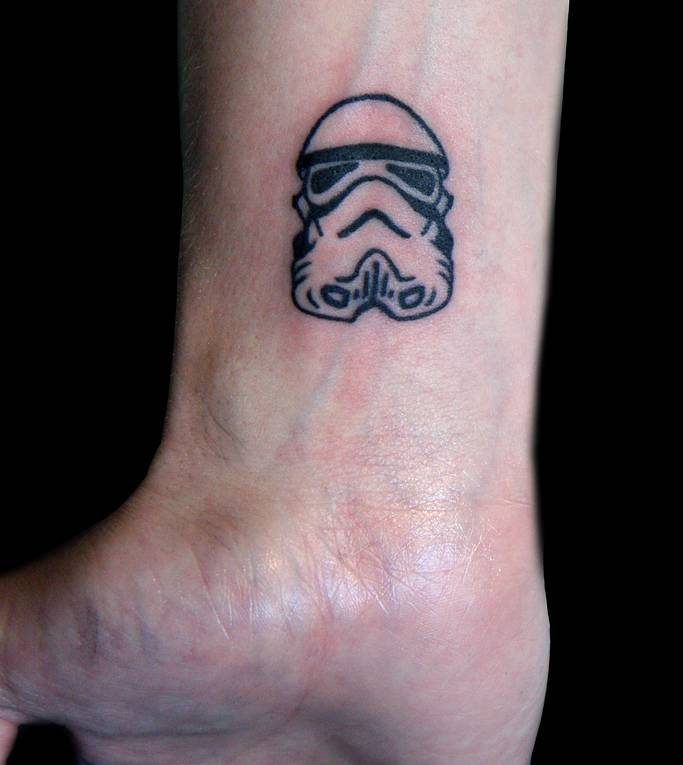 Small Size Stormtrooper Helmet Tattoo