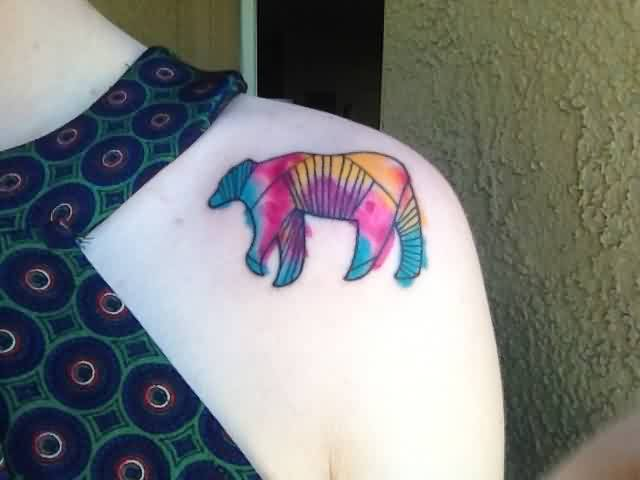Small Watercolor Animal Tattoo On Front