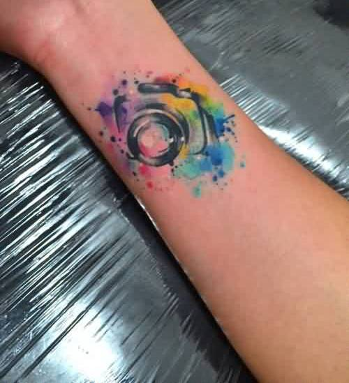 Small Watercolor Tattoo Near Wrist
