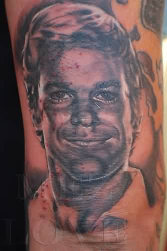 Smiling Boy Portrait Tattoo