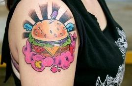 rays-and-cheese-burger-tattoos-on-shoulder.jpg