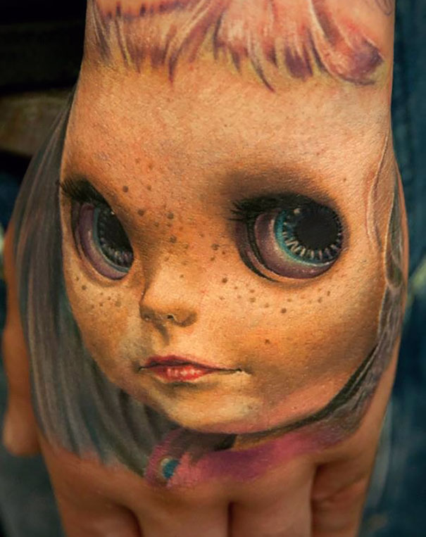 Creepy Baby Tattoo In 3D