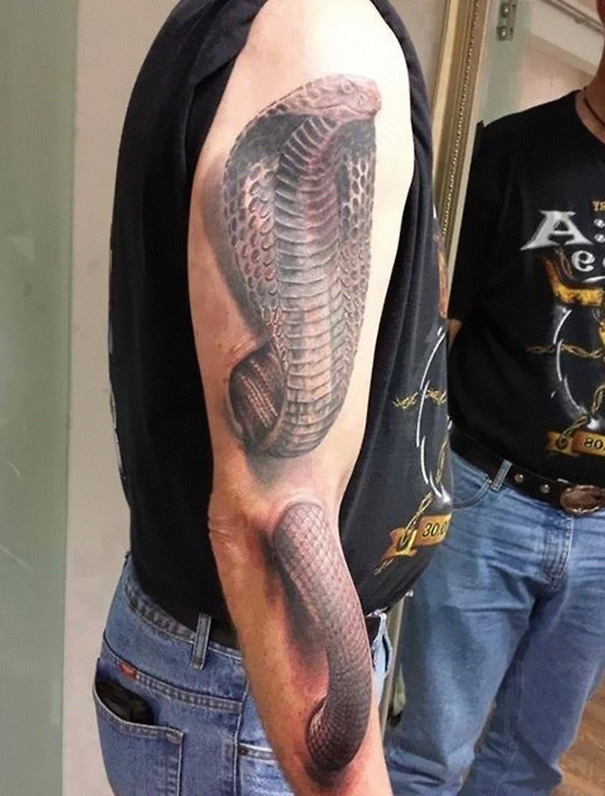 Mind Boggling Snake 3D Tattoo