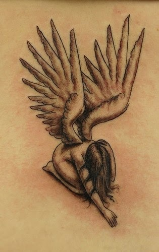 awesome wings of angel tattoo