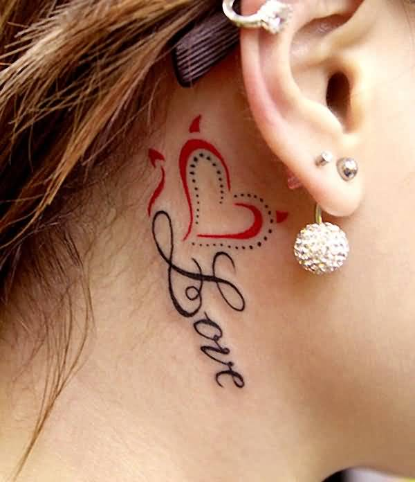 Brilliant love tattoo for girls