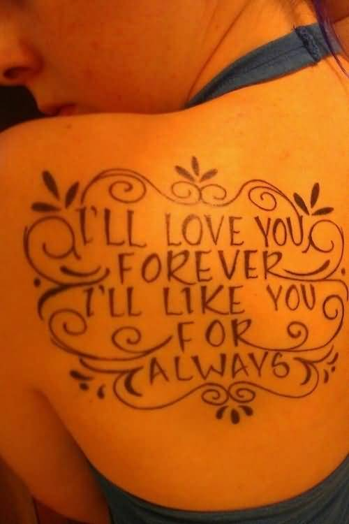 brilliant love promise tattoo