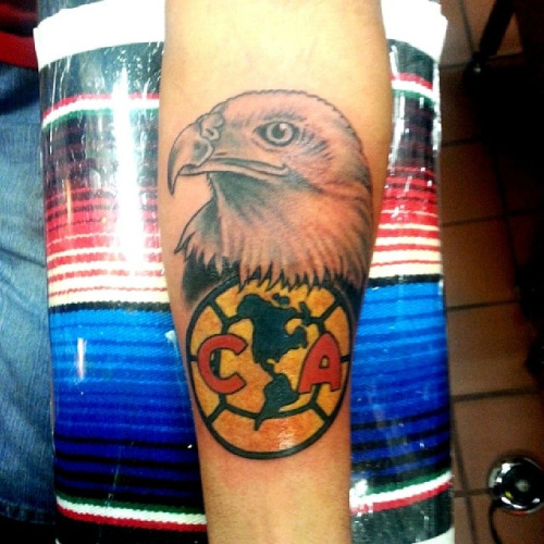 club america tattoo on arm