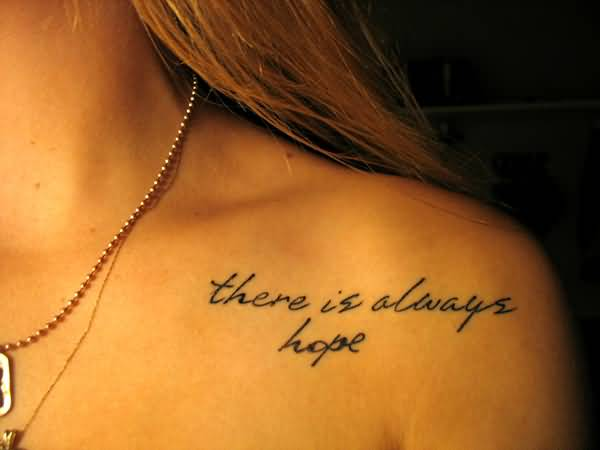 hope love tattoo