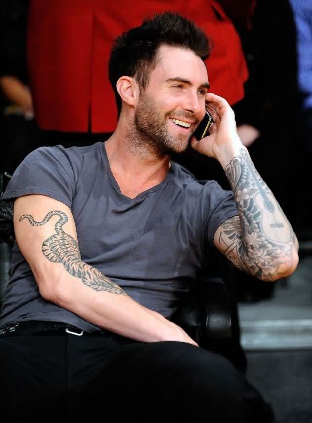 Celebrity adam levine Tattoos