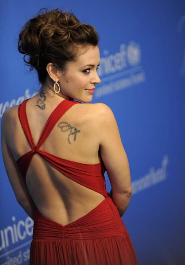 Celebrity alyssa milano Tattoos