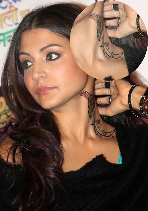 Celebrity anushka sharma Tattoos