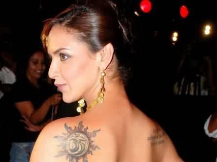 Celebrity esha deol Tattoos