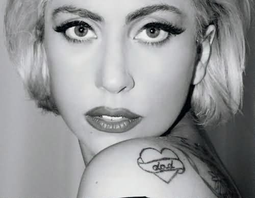 Celebrity lady gaga Tattoo