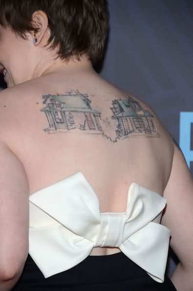 Celebrity lena dunham Tattoos