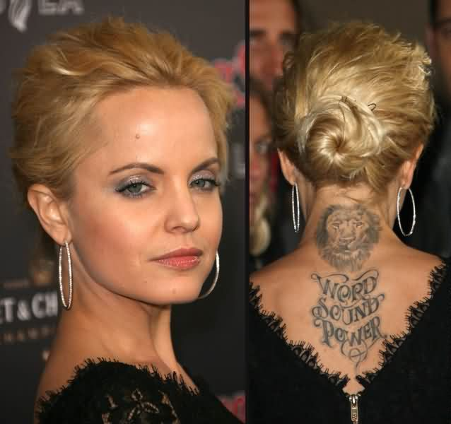 Celebrity mena suvari Tattoos
