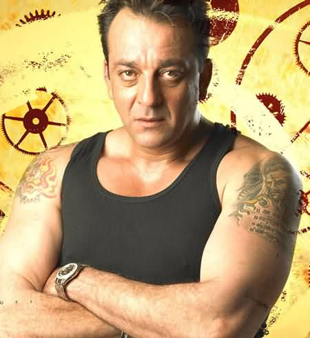 Celebrity sanjay dutt Tattoos