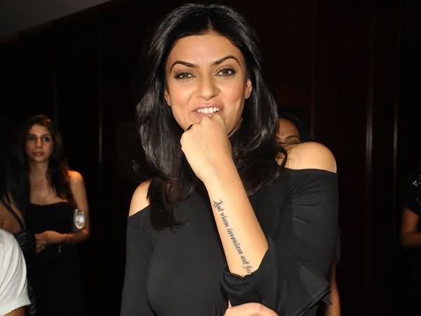 Celebrity sushmita Tattoos