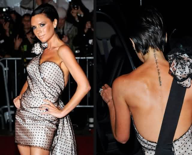 Celebrity victoria beckham Tattoos
