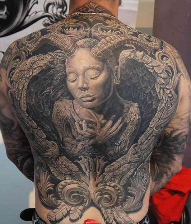 back conjuring tattoo