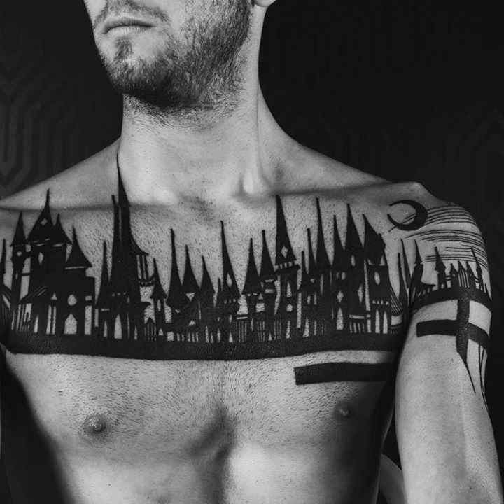 chest tattoo