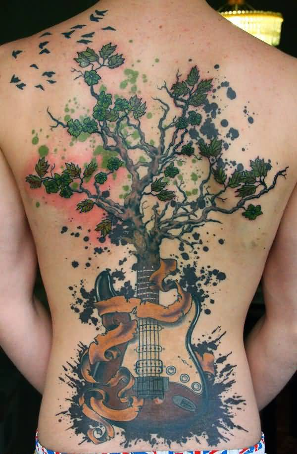 music tattoo tree