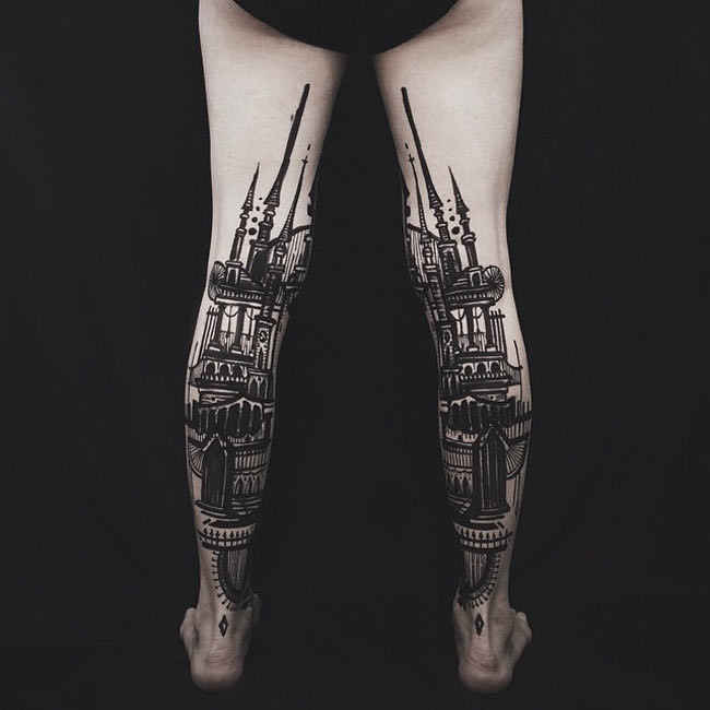 awesome leg tattoo