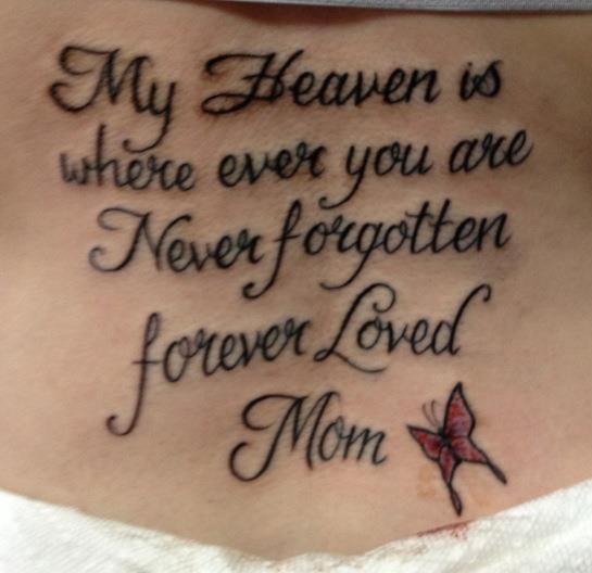 memorial tattoos love you mom