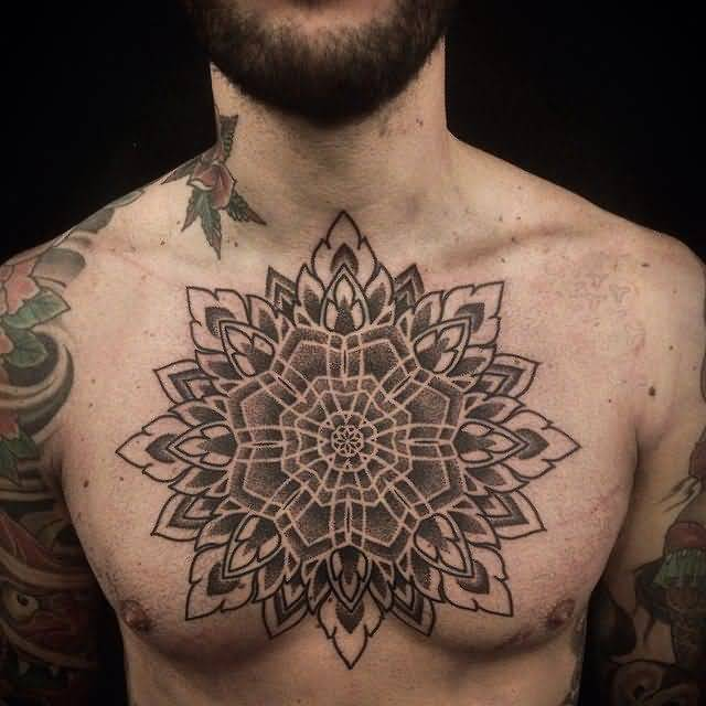 unique chest tattoo for men