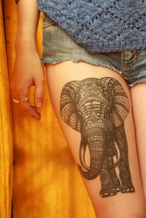 african elephant leg tattoo