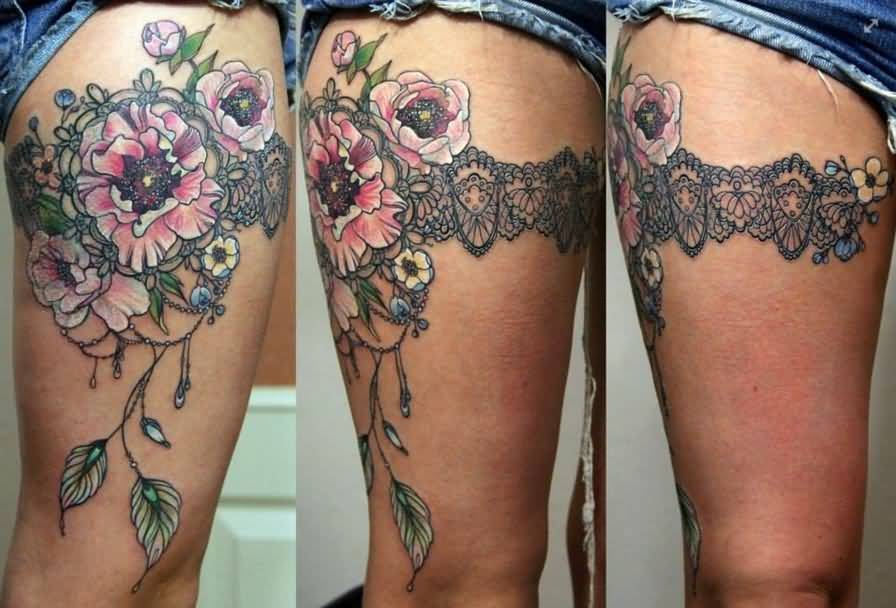 amazing leg carving tattoo