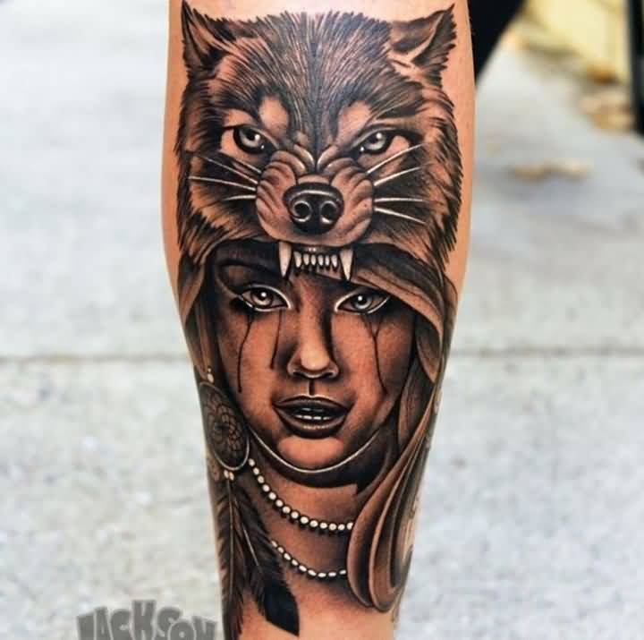 awesome wild leg tattoo art