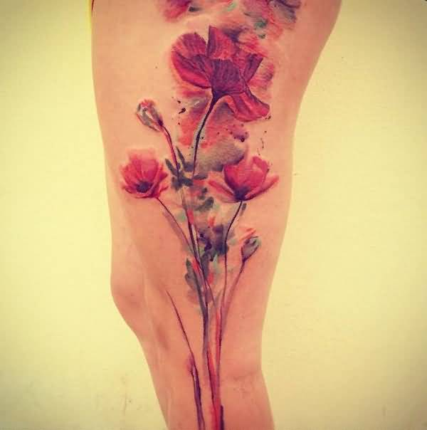 beautifuly finneshed leg tattoo