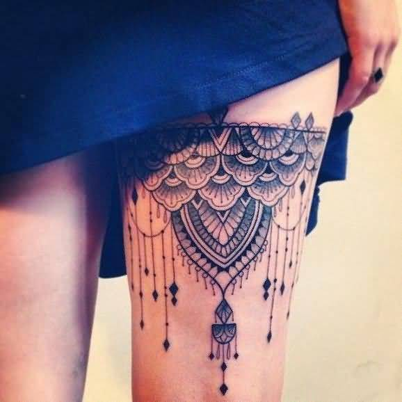 best leg tattoo design for women
