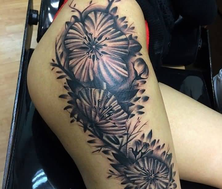 intresting leg tattoo art for girls