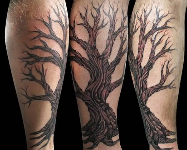 leg sleeve tattoo for guys