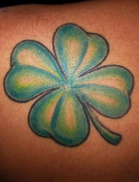 Beautiful Four Leaf Clover Tattoo For Men Back