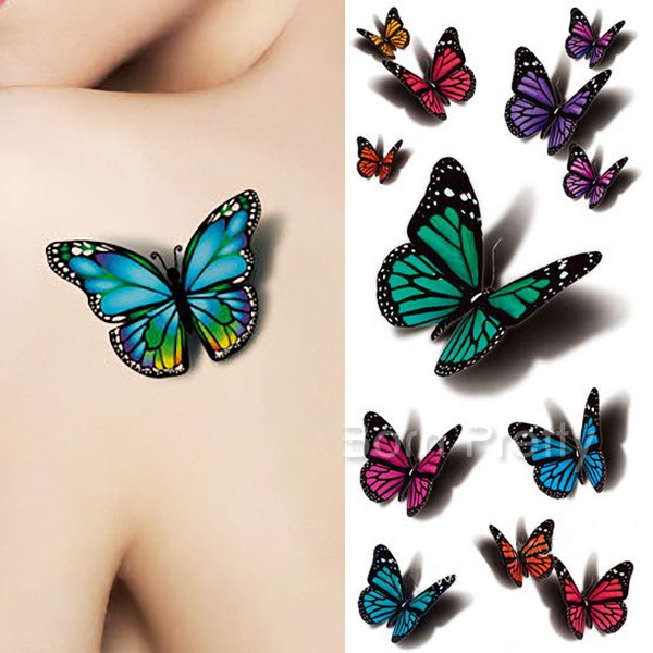 Best Blue 3d Butterfly Tattoo Designs And Ideas