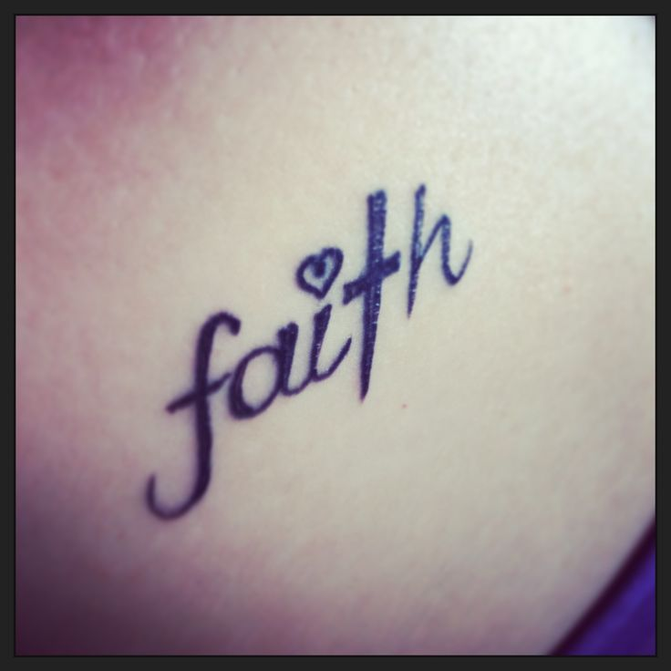 Cool Faith In Cross Tattoo Design