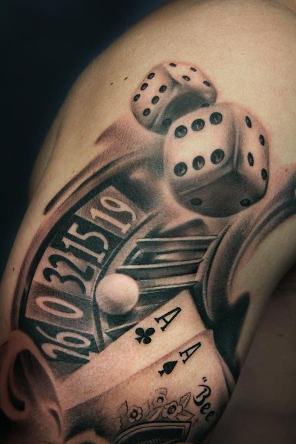 Coolest Dice And Roole Tattoo Art