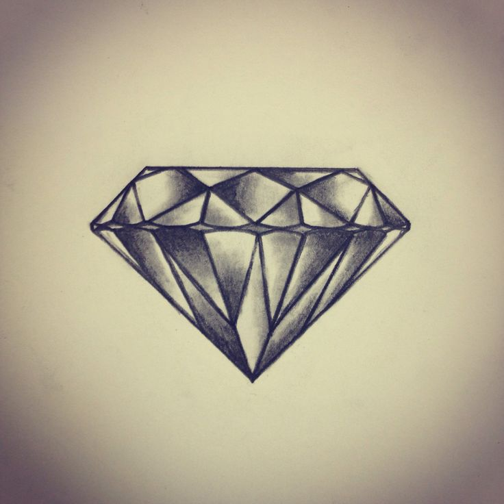 Fabulous Diamond Tattoo Design On Paper