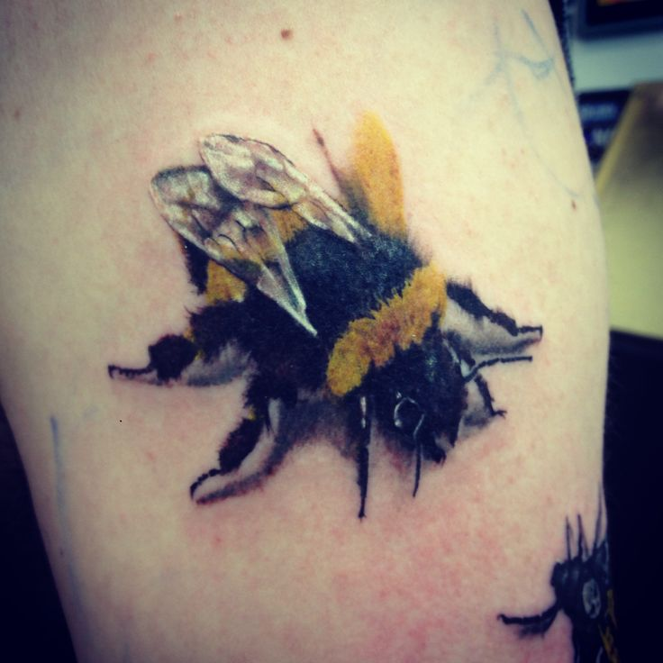 Nice Real Bumblebee Tattoo Design Idea
