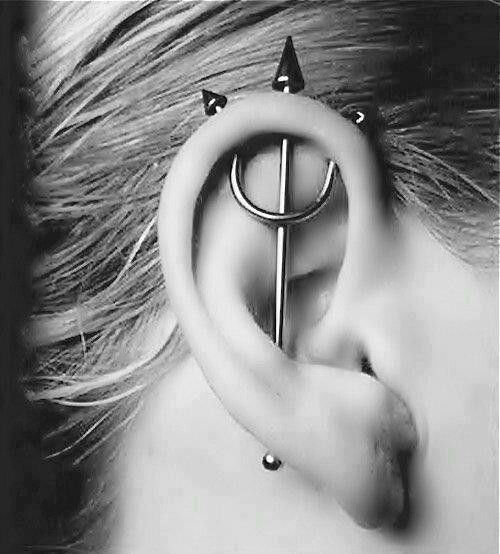 awesome trishul piercing