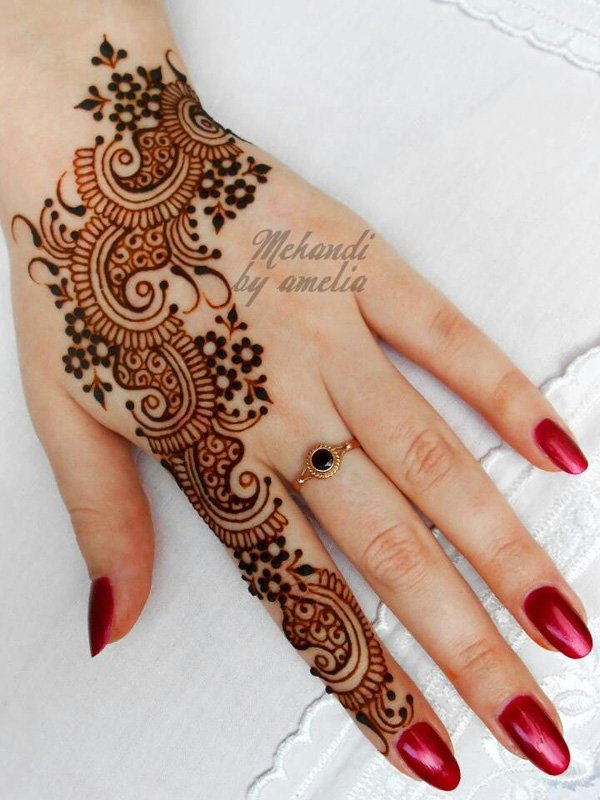 Best Henna Hand Tattoo Art Design