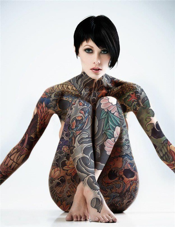 Charming Model With Fantastic Full Body Tattoos