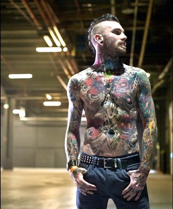 Funky Men With Full Body Tattoo Designs