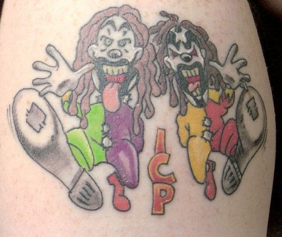 Weird ICP Clown Tattoo Design Idea