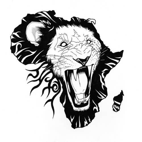 african-lion-tattoo