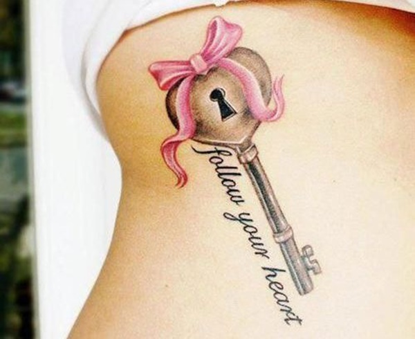 amazing-letters-key-lock-tattoo-on-sexy-rib-side
