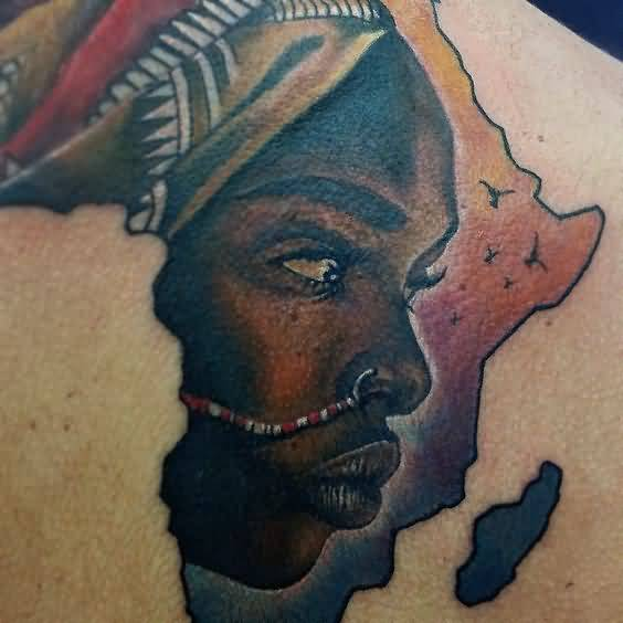 artistic-african-girl-with-africa-map-tattoo